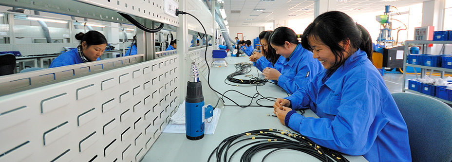 lemo connector assembly line